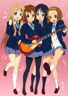 K-on - Yui, Ritsu, Mio & Tsugumi