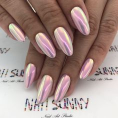 Learn How To sell your photos online easily And Make Profits. Metallic Nails, Glitter Nails, Pastel Nails, Pink Nails, Cute Nails, Pretty Nails, Irridescent Nails, Nagel Hacks, Clear Nails