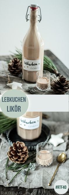 The best recipe for gingerbread liqueur Do it yourself now Das beste Rezept für Lebkuchenlikör Diy Christmas Gifts, Christmas Time, Christmas Gingerbread, Christmas Recipes, Christmas Ideas, Spice Bread, Liqueur, Diy Food, Eat Cake