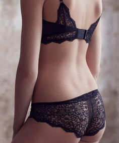Oysho - Black Lace hipster underwear