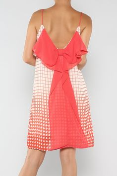 Bow Square Dress #wholesale #bow #clothing #fashion #summer #love #ootd #wiwt #shorts #skirts #dresses #tanks Bow Back, Dress P, Tanks, Style Me, Cold Shoulder Dress, Ootd, Shorts, Clothing, Summer