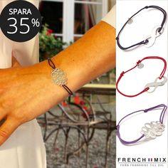 Spara 35 % på dessa fina armband i fransk design med oändlighets symbol i  silver. Evighet b46d00beb948f