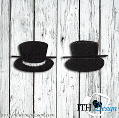 Free Top Hat Bobby Pin cover embroidery design