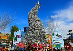 Grinchmas-Frosted Christmas Tree: Universal Studio Hollywood California