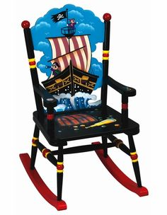 Pirate Rocking Chair - Goes perfectly with the rest of the decor. I freaking LOVE it.