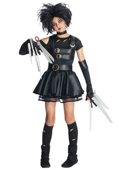 Tween Miss Scissorhands costume #Halloween #Teen #EdwardScissorhands