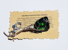 Wire Wrapped GAIA Goddess Stone Green Obsidian Key Chain Purse Charm Backpack Positive Healing Reiki Energy Crystal Boho Wicca GKC6116 by TheStoneFairyShop on Etsy