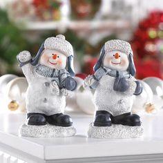 Snow Fight Buddies Snowmen Figurines Decor - P&J Home and Garden Decor  - 1