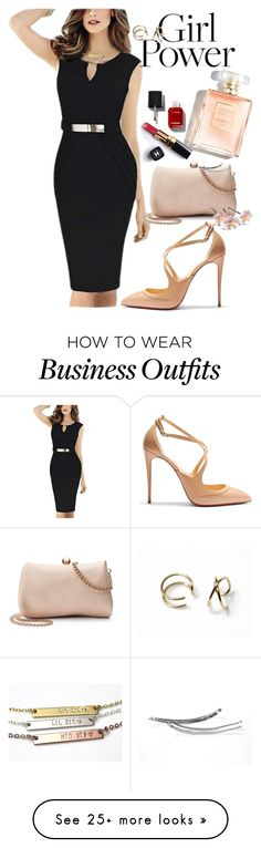 """""""Power Look"""" by nikush-14263369628 on Polyvore featuring WithChic, Christian Louboutin, LC Lauren Conrad, Chanel and MyPowerLook"""