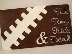Football Wall Hanging by CraftsGaLaura on Etsy, $50.00