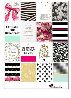 Kate Spade inspiré Erin Condren autocollants par LittleSurpriseShop Plus Free Planner, Planner Pages, Happy Planner, Planner Board, Planer Organisation, Day Planners, Personal Planners, Planner Supplies, Idee Diy