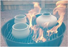 Use a Charcoal Grill as a Pit Fire Pottery Kiln For the ceramicist without access to an enormous kiln, you can actually throw your pottery on a grill for a DIY alternative. Check out this guide for the how-to. Via: Ceramic Arts Daily Ceramic Techniques, Pottery Techniques, Pottery Kiln, Ceramic Pottery, Thrown Pottery, Pottery Tools, Pottery Vase, Clay Projects, Clay Crafts