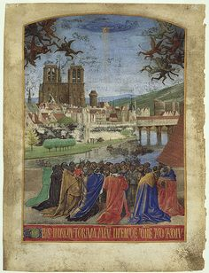 Leaf from the Hours of Étienne Chevalier: The Right Hand of God Protecting the Faithful against Demons, ca. 1452–60. Jean Fouquet (French, ca. 1415/20–1478/81) Tempera and gold leaf on parchment. A very significant and important work of art, especially for students of history studying African/European cultural connections.
