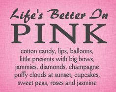 Original Art Print Life Is Better In Pink by ArtPrintChicBoutique, $15.00
