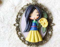 collar/fimo/creativo/gitana mulan de Disney Princesas/a petición