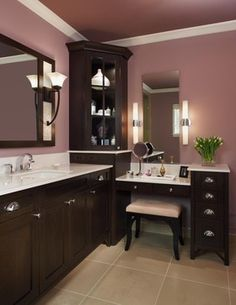 Corner, angled built in  22 Inch Bathroom Cabinets Design Ideas, Pictures, Remodel, and Decor - page 18