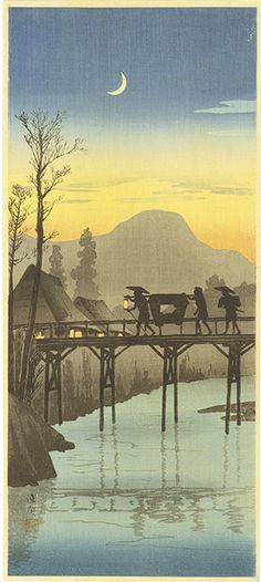 woodblock print by TAKAHASHI Shotei (1871-1945), Japan 高橋松亭