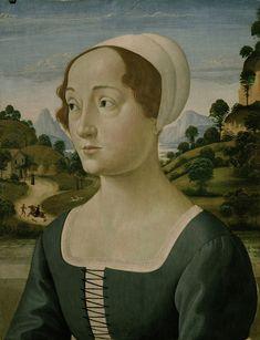 Portrait of a woman: Domenico Ghirlandaio 1449-1494