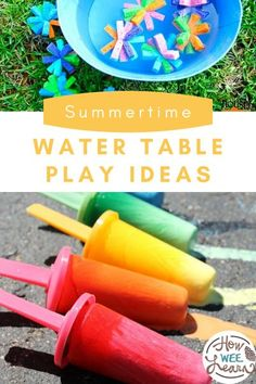 These water play activities are full of learning and fun for preschoolers and perfect for summer time! Water Play Activities, Educational Activities For Preschoolers, Creative Activities For Kids, Outdoor Activities For Kids, Summer Activities For Kids, Autumn Activities, Infant Activities, Sensory Play, Sensory Bins