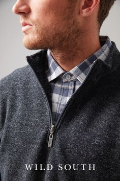 NZD $229.90 - Heavy weight merino quarter zip - this textured boucle knit merino jersey with nylon for extra strength is just what you need in the cooler months. This garment has rugged style - wear it to the game or to the pub with your mates. A very versatile style and a firm Wild South favourite. #Merino #WildSouth #NewZealand #Mens #Fashion #Style