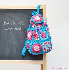 Crochet Back to School Backpack with Free Pattern