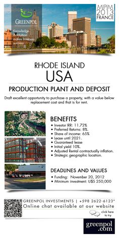 Production Plant and Deposit - USA