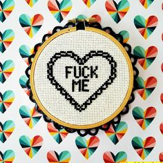 Funny Valentine Cross stitch pattern Vday Valentine's Day