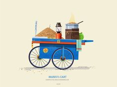 This series is dedicated to the quint essential pushcarts of India. The supers start on the streets that are ubiquitous on most indian cities yet very understated. From colourful flowers to fresh Vegetables shaved icegolas to flavourful snack carts that Indian Illustration, House Illustration, India Street, India Art, Indian Art Paintings, Food Illustrations, Image Hd, Poster Wall, Vector Art