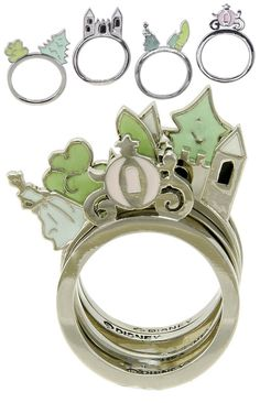 Love these stackable Disney Courture rings, but what is the object that is on the same ring as Cinderella?