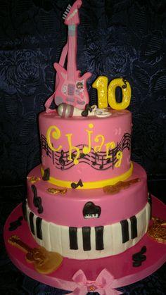 cake chitarra elettrica violetta