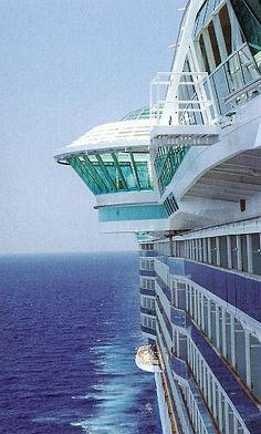 Royal Caribbean's Freedom of the Seas adults only hot tubs extending 120 feet over the seas.