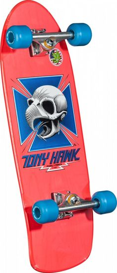 Powell Peralta Tony Hawk Skull Bones Brigade 6 Pink Complete Skateboard -- Details can be found by clicking on the image. (This is an affiliate link) Powell Peralta Decks, Tony Hawk Skateboard, Skate Shoe Brands, Complete Skateboards, Skate Park, Skull And Bones, Series 3, Outdoor Gear, Disneyland