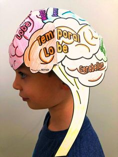 Teach kids about the parts of the brain and how it helps them learn. This growth mindset activity for elementary students makes for a great visual activity. #thebrain #brain #elasticbrain #growthmindset #socialemotionallearning Growth Mindset For Kids, Growth Mindset Classroom, Growth Mindset Activities, The Brain For Kids, Science Activities, Activities For Kids, Human Body Activities, Primary Activities, Science Curriculum