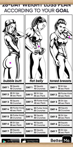 Personal Body Type Plan to Make Your Body Slimmer at Home! Click and take a Quiz. Lose weight at home with effective 28 day weight loss plan. Chose difficulty level and start burning fat now! Your main motivation is your dream body, and you'll d Weight Loss Workout Plan, At Home Workout Plan, Weight Loss Plans, At Home Workouts, Workouts To Loose Weight, 10 Week Workout Plan, Cheer Workouts, Summer Body Workouts, Fitness Workouts