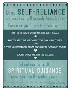 Young Women Lesson 11: Growing and Maturing in Self-reliance, Part 1 - free printable!