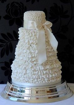 All cakes are filled and iced, include some simple decoration and are finished with a ribbon on an iced cake board. Tiers are stacked or separated as desired or displayed on a stand. Fondant Cakes, Cupcake Cakes, Cupcake Ideas, Amazing Wedding Cakes, Amazing Cakes, Sweet Cakes, Cute Cakes, Wedding Cake Inspiration, Gorgeous Cakes