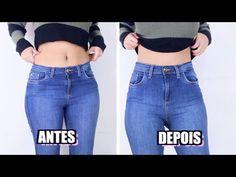 Kit 2 Pçs Calça Jeans Feminina Lycra Cintura Alta Roupa Dins