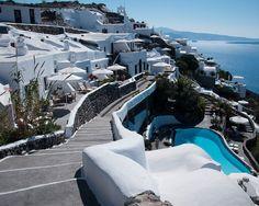 Houses on the Edge of Santorini Greece, Fine Art Photography 8x10 print
