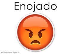 Las imágenes son los EMOJIS que se usan en el Whatsapp. Para que las niñas y los niños identifiquen ciertos estados de ánimo... con algo q...