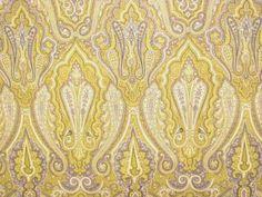 Suburban Platinum Paisley Fabric
