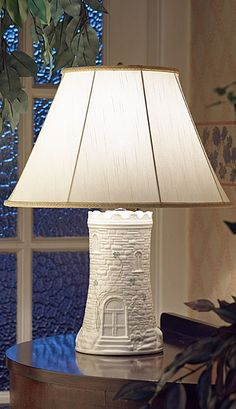 Belleek Castle Lamp and Shade - Crystal Classics