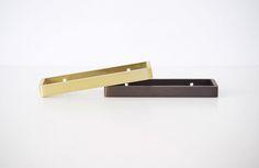 Alice Tacheny Design Tilde Pull, in brass and blackened bronze