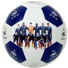 Collection officielle Equipe de FRANCE de football. Ballon de football FFF, avec signatures des joueurs. Taille 5 (standard).