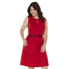 kohl's - Dana Buchman Solid Fit & Flare Dress - Women's Plus Size