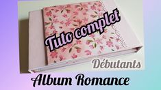 YouTube Mini Albums Scrap, Romance, Scrapbook Albums, Stampin Up, Manualidades, Diy Crafts, Projects, Romance Film, Romances