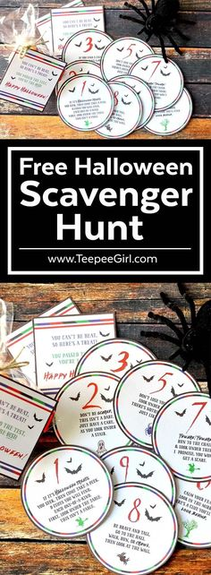 Free Halloween Scavenger Hunt | Perfect Halloween Activity Game for kids! Make this a new Halloween family tradition or class parties! www.TeepeeGirl.com #Halloween #ForKids