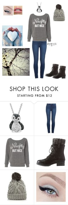 """""""Winter Time"""" by tinymoonprincess ❤ liked on Polyvore featuring Amanda Rose Collection, Paige Denim, Charlotte Russe, Accessorize, Boots, snow and Naughty"""