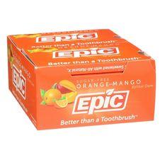 [NEW] Orange-Mango Xylitol Gum, 12-piece packs, Box of 12 packs