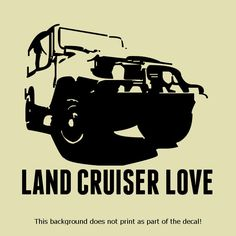 LOVE TO CRUISE VINYL DECAL STICKER CRUISER 4X4 OFFROAD OFFROADING CLASSIC RETRO