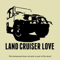 LOVE TO CRUISE VINYL DECAL STICKER CRUISER 4X4 OFFROAD OFFROADING CLASSIC RETRO